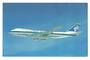 Coloured advertising postcard of Air New Zealand Boeing 747. - 40836 - Postcard