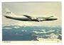 Coloured postcard of Scandinavian Air Services Boeing 747. - 40943 - Postcard