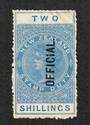 NEW ZEALAND 1882 Long Type Postal Fiscal Official 2/- Blue. - 4119 - MNG
