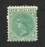 NEW ZEALAND 1882 Victoria 1st Second Sideface 4d Green. Perf 11. Two blind perfs. Good amount of original gum. - 4201 - Mint