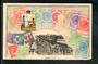 SOUTH AUSTRALIA Coloured postcard featuring the stamps of South Australia. T cachet on the reverse. Excellent condition. - 42107