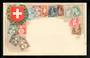 SWITZERLAND Coloured postcard featuring the stamps of Switzerland. - 42121 - Postcard