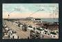 Coloured postcard of The Marine Drive Yarmouth. Trams. - 42554 - Postcard