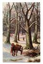 Art card by Tuck. Christmas scene. - 43776 - Postcard