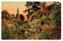 Tuck art card. A Cottage Garden. - 43780 - Postcard