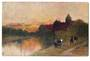 Coloured postcard. The path by the river. 1906. - 43784 - Postcard