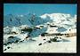 Modern Coloured Postcard by Gladys Goodall of ski lodges Mt Ruapehu. - 444594 - Postcard