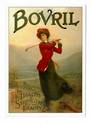 Postcard. Modern reproduction of old advertising poster, Bovril. - 444713 - Postcard