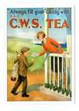 Postcard. Modern reproduction of old advertising poster, Always fill your caddy with CWS Tea. - 444714 - Postcard