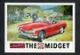 Postcard. Modern reproduction of old advertising poster, the MG Midget. - 444715 - Postcard
