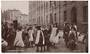 Two postcards. Dancing to Organ. Pick a back fight. Social history of London. - 44728 - Postcard