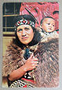 Modern Coloured Postcard of Maori mother and child. - 449589 - Postcard