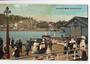 Coloured postcard of Devonport Wharf Auckland. Plenty of action. - 45067 - Postcard