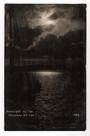 Real Photograph by Radcliffe. Moonlight on the Manukau.