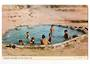 Coloured postcard by PPL of Hastings of Maori Children in Hot Pool. - 46267 - Postcard