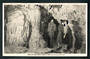 Real Photograph by of Visitors with Guide Waitomo Caves. Hurst type card. - 46408 - Postcard