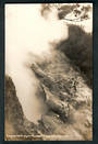 Real Photograph by Radcliffe of Dragon's Mouth Geyser Wairakei in action. - 46785 - Postcard