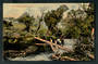 Coloured postcard of Rustic Bridge Ohakune. - 46817 - Postcard