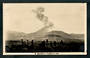 Real Photograph by A B Hurst & Son of Mt Ngauruhoe in Eruption. - 46820 - Postcard