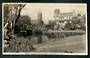 Real Photograph by A B Hurst & Son of Rustic Bridge Square Palmerston North. - 47239 - Postcard