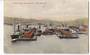 Coloured postcard of Queen's Wharf Wellington. Bird's eye view. - 47463 - Postcard