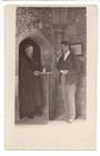 Real Photograph of priest taking communion. Sold by Mrs D Percival Hataitai. - 47671 - Postcard
