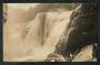 Real Photograph by McDougall 13/2/10. Te Reinga Falls on the Wairoa River. Rare card. - 47914 - Postcard