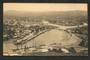 Real Photograph of Gisborne from Kaiti Hill. Several small ships in port. Superb card by Ellerbeck. - 48176 - Postcard