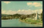 Coloured postcard of Turanganui River and War Memorial Gisborne. - 48179 - Postcard