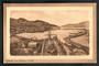 Sepia Postcard of Lyttleton and Harbour. Ship in Dry Dock. - 48334 - Postcard
