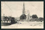 Postcard of Cathedral Square Christchurch. Tram prominent. - 48357 - Postcard