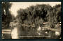 Real Photo by Radcliffe of the Avon at Fendalton Christchurch. Young lady in rowboat. - 48401 - Postcard