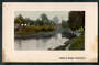 Coloured postcard of Cashel St Bridge Christchurch. Stain. - 48404 - Postcard