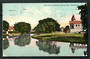 Coloured postcard of the Avon and Canterbury Rowing Clubs. Christchurch C Class cancel. - 48416 - Postcard