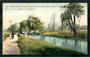 Coloured postcard of Park Bridge Entrance to Hagley Park. - 48429 - Postcard