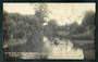 Real Photograph by Radcliffe. On the Avon at Fendalton Christchurch. - 48431 - Postcard