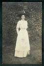 Real Photograph of Lady from Christchurch. - 48463 - Postcard