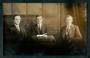 Real Photograph of three businessmen from Christchurch. - 48464 - Postcard