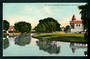 Coloured postcard of The Avon and Canterbury Rowing Clubs Christchurch - 48487 - Postcard