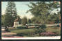 Coloured postcard of Botannical Gardens Christchurch. Some damage. - 48522 - Postcard