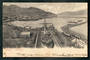 Early Undivided Postcard of Lyttleton Canterbury. Ship in dry dock. Embossed