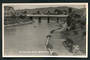 Real Photograph of Riverside Park Blenheim. The view consists mainly of the Bridge across the river. - 48708 - Postcard