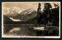 Real Photograph by A B Hurst & Son of Franz Josef Glacier from Lake Mapourika. - 48770 - Postcard