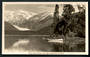 Real Photograph by A B Hurst & Son of Franz Josef Glacier from Lake Mapourika. - 48772 - Postcard