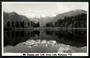 Real Photograph by N S Seaward of Mt Tasman and Mt Cook across Lake Matheson - 48778 - Postcard