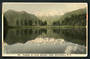 Tinted Postcard by N S Seaward of Mt Tasman and Mt Cook across Lake Matheson - 48784 - Postcard