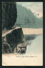 Early Undivided Coloured Postcard of Hawks Craig Buller Gorge. - 48805 - Postcard