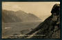 Real Photograph by Radcliffe. Foot of Tasman Glacier from above Ball Hut. - 48873 - Postcard