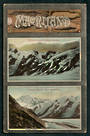 Coloured postcard of Tasman Glacier Two views. - 48890 - Postcard