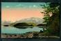 Coloured postcard by Muir and Moodie of Cathedral Peaks Lake Manapouri. - 49044 - Postcard
